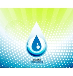 Water drop background vector image
