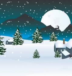 Winter moon vector