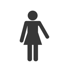 woman female pictogram silhouette icon vector image