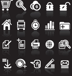 essential web style icons vector image