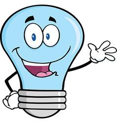Light bulb waving vector image
