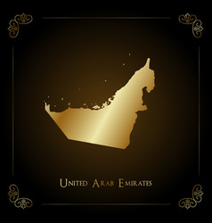 uae golden map vector image