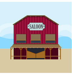 colorful wild west saloon template vector image