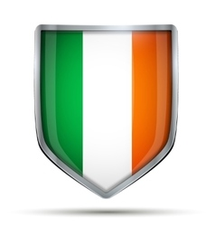 Shield with flag Ireland vector image