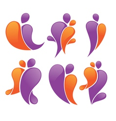 abstract family vector image