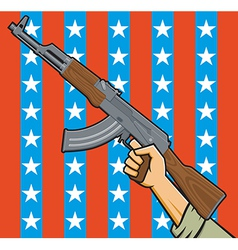 american assault rifle vector image vector image