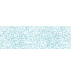Blue lace flowers textile horizontal border vector image vector image