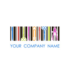 logo for stationery shop or company vector image vector image