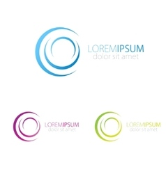 Blue pink and green logotype for social vector image vector image