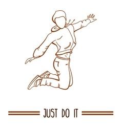 Sport Girl Jumping vector image