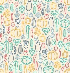 Vintage vegetables pattern vector image