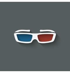 3d glasses design element vector image