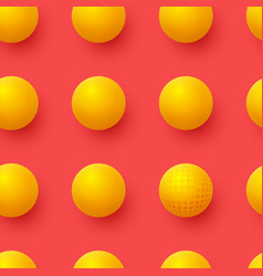 3d yellow balls on red background abstract vector image