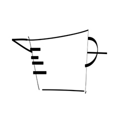 A measuring cup is placed vector