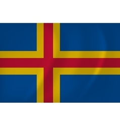 Aland Islands Flag vector image
