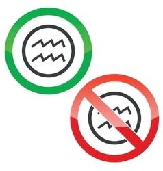 Aquarius permission signs vector