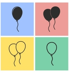 Balloon icon set vector image