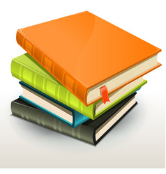 books and pics albums pile vector image