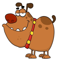 brown bulldog vector image