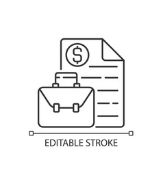Business broker linear icon vector