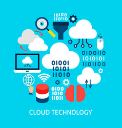 cloud technology flat concept vector image