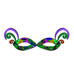 Colorful mask mardi gras purim vector