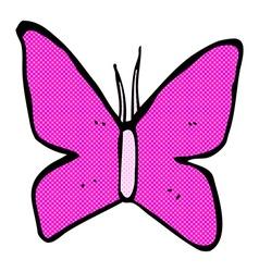 comic cartoon butterfly symbol vector image