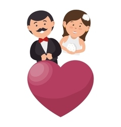 couple just married character vector image vector image