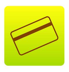 credit card symbol for download brown vector image