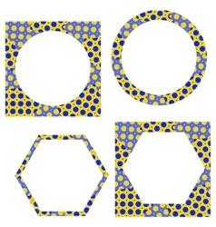 Cute frames set Vintage frames set vector image vector image