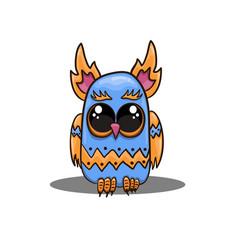 cute owl in cartoon style cute owl vector image