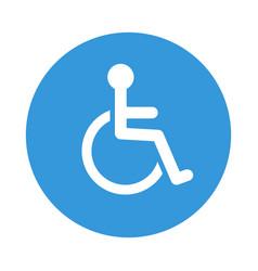 Disabled wheelchair icon disable symbol vector