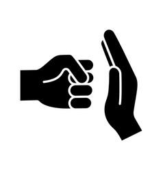 domestic violence glyph icon vector image