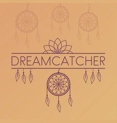 dreamcatcher poster on gradient background vector image