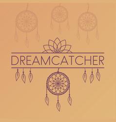 dreamcatcher poster on gradient background vector image