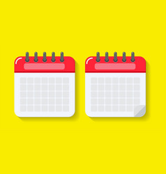 Empty replica calendar for enter date vector