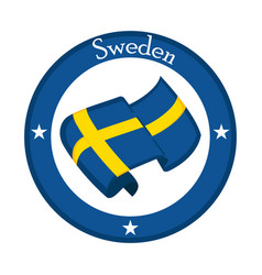 Flag of sweden on a label vector