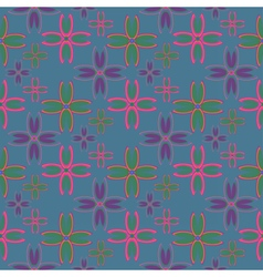 Floral geometric seamless pattern with colorful vector image