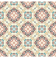 Floral Pattern Blue Brown Flower Elements vector image
