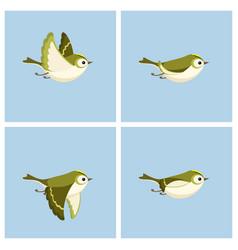 Flying goldcrest female animation sprite sheet vector