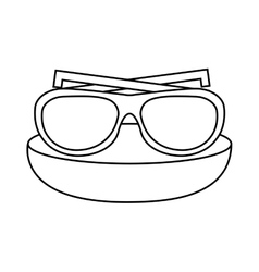 Glasses vacations accesory icon vector
