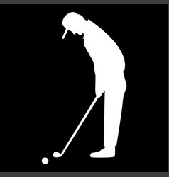 Golfer it is the white color icon vector