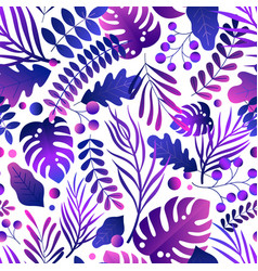 gorgeous seamless pattern with tropical leaves vector image