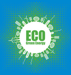 green eco banner alternative energy sources vector image