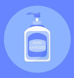hand sanitizer bottle symbol for hygiene vector image