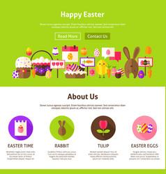 happy easter website design vector image