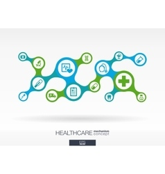 Healthcare growth abstract background vector