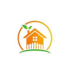 home garden ecology logo vector image