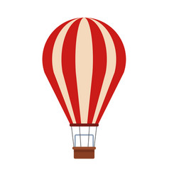 Hot air balloon icon flat design vector