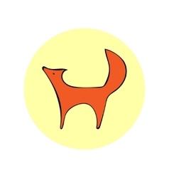 image design Fox white background vector image
